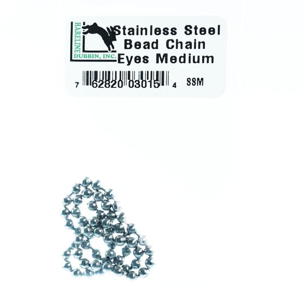 Harline stainless steel bead chain and quality fly tying material for all your saltwater flies - Flyfishbonehead Fly Shop