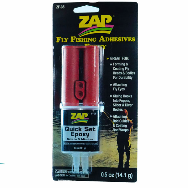 Zap quick set epoxy - epoxy resin for fly tying