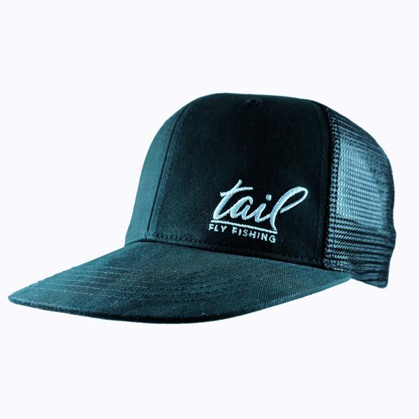 Flat bill trucker cap tail fly fishing limited edition for Flat bill fishing hats