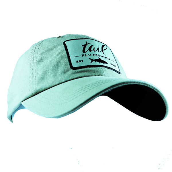 premium brushed twill cap with patch and black underside of visor