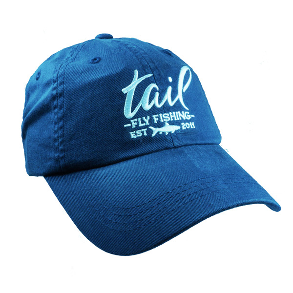 Tail Fly Fishing Magazine Limited Edition Brushed Cotton Embroidered Navy Ball Cap